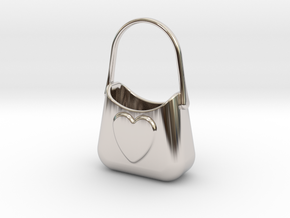 Bag Of Love in Rhodium Plated Brass