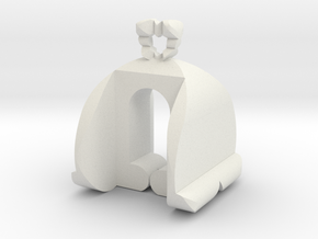 I♥U Shape 2 - HP1 in White Natural Versatile Plastic
