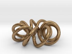 (9, 2) Spiral Torus in Natural Brass