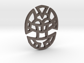 Cosmic Egg / Huevo Cósmico in Polished Bronzed Silver Steel