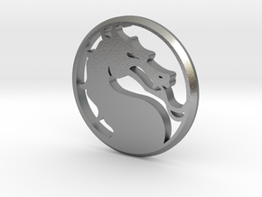 Mortal Kombat Medallion in Natural Silver