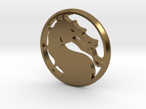 Mortal Kombat Medallion in Polished Bronze