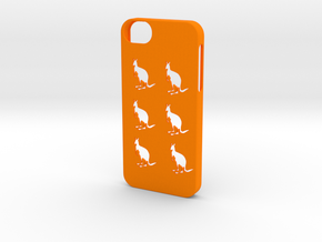 Iphone 5/5s kangaroo case in Orange Strong & Flexible Polished