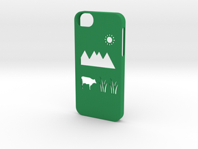 Iphone 5/5s meadow case in Green Strong & Flexible Polished