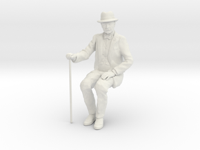 David Sitting WSF 7/8ths scale in White Natural Versatile Plastic