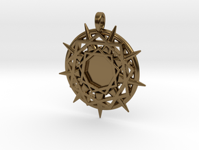 ENNEAGRAM COMPASS in Polished Bronze
