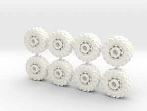 15mm diameter buggy/UTV wheels (8) in White Processed Versatile Plastic