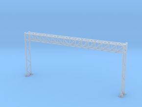 N Scale Highway Sign Gantry 96mm in Frosted Ultra Detail