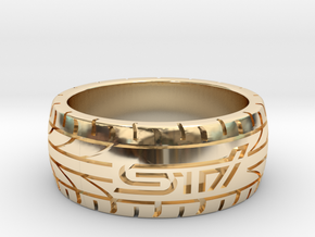 Subaru STI ring - 17 mm (US size 6 1/2) in 14K Yellow Gold
