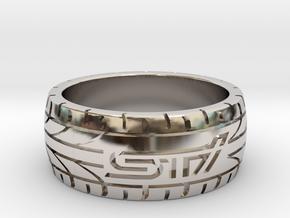Subaru STI ring - 17 mm (US size 6 1/2) in Platinum