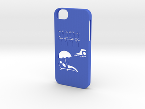Iphone 5/5s exotic case in Blue Strong & Flexible Polished