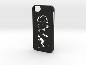 Iphone 5/5s winter case in Black Natural Versatile Plastic