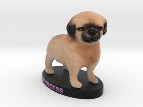 Custom Dog Figurine - Princess in Full Color Sandstone
