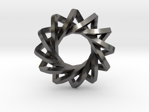 """4 Concentric Impossible Triangles 1"""" in Polished Nickel Steel"""