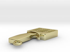 LLAVERO MANDO SLOT, PERSONALIZABLE in 18k Gold Plated Brass