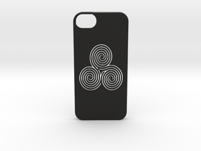 Iphone 5/5s labyrinth case in Black Natural Versatile Plastic