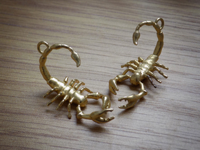 Scorpius Earrings  in Natural Brass