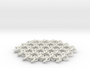 Flex lattice coaster. in White Natural Versatile Plastic