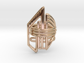Balem's Ring2 - US-Size 10 (19.84 mm) in 14k Rose Gold Plated Brass