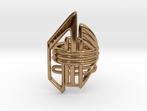 Balem's Ring2 - US-Size 9 1/2 (19.41 mm) in Polished Brass