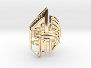 Balem's Ring2 - US-Size 10 1/2 (20.20 mm) in 14K Yellow Gold