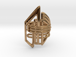 Balem's Ring2 - US-Size 13 (22.33 mm) in Polished Brass