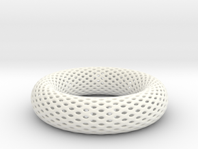 Frohr Design Bracelet Voronoi  Style in White Processed Versatile Plastic