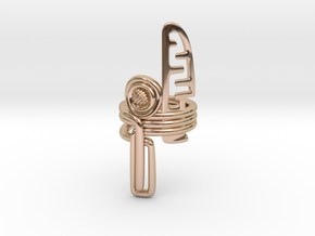 Balem's Ring3 - US-Size 10 1/2 (20.20 mm) in 14k Rose Gold Plated Brass