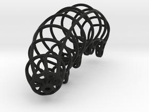 Wireframe Tardigrade in Black Natural Versatile Plastic