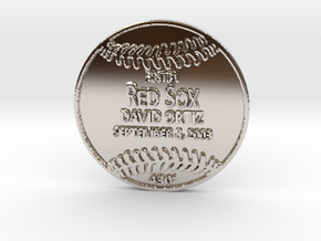 David Ortiz in Rhodium Plated Brass
