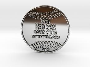 David Ortiz in Fine Detail Polished Silver