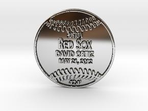 David Ortiz2 in Fine Detail Polished Silver