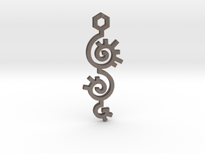 Spiral / Espiral in Polished Bronzed Silver Steel
