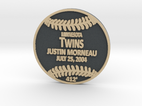 Justin Morneau in Full Color Sandstone