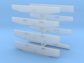 1/87th Truck Bumpers, older era types in Smooth Fine Detail Plastic
