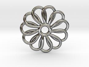 Abp01 Flower Pendant in Premium Silver