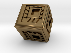 Cubical in Polished Bronze