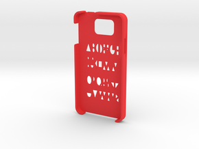 Samsung Galaxy Alpha Geometry case in Red Processed Versatile Plastic