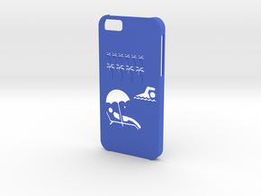 Iphone 6 Exotic case in Blue Processed Versatile Plastic