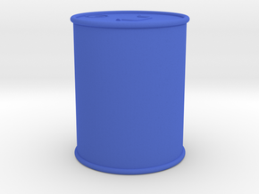 5 Gal Can 1/10 scale in Blue Processed Versatile Plastic