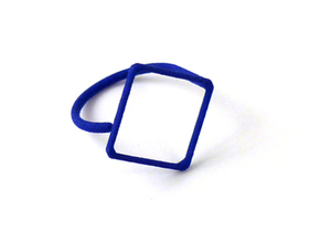 Rhombus ring shape. in Blue Processed Versatile Plastic