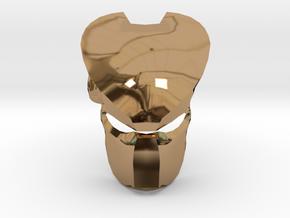 Predator Mask in Polished Brass
