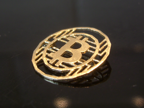Bitcoin Pin - 20mm in Raw Brass