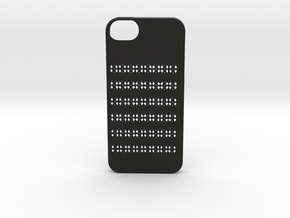 Iphone 5/5s geometry case in Black Strong & Flexible