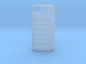 Iphone 5/5s geometry case in Smooth Fine Detail Plastic