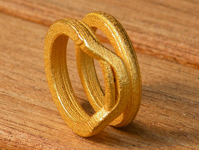 Balem's Ring1 - US-Size 8 (18.19 mm) in Polished Gold Steel