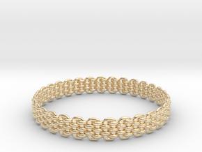 Wicker Pattern Bracelet Size 8 or USA Medium Size in 14K Yellow Gold