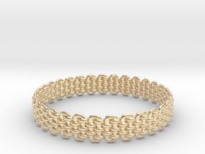 Wicker Pattern Bracelet Size 4 in 14K Yellow Gold