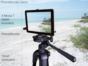 Samsung Galaxy Tab 4 7.0 LTE tripod mount in Black Natural Versatile Plastic