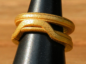 Balem's Ring1 - US-Size 10 1/2 (20.20 mm) in Polished Gold Steel